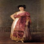 Francisco de Goya (1746-1828)  La Tirana  Oil on canvas, 1799  81 x 51 1/8 inches (206 x 130 cm)  Private collection